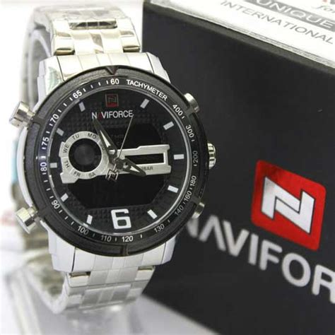 Jam Tangan Naviforce New Pria Dual Time Leather Original Waterresist 1 jam tangan naviforce dual time ii original