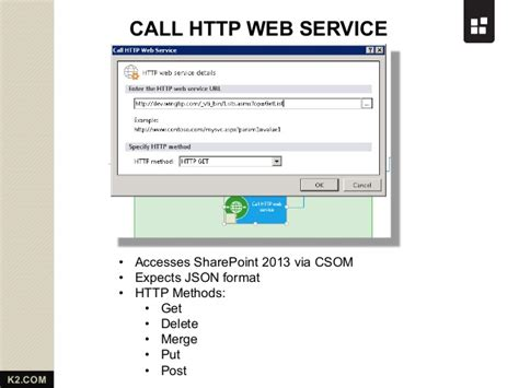sharepoint 2013 workflow call http web service sharepoint 2013 workflow from k2