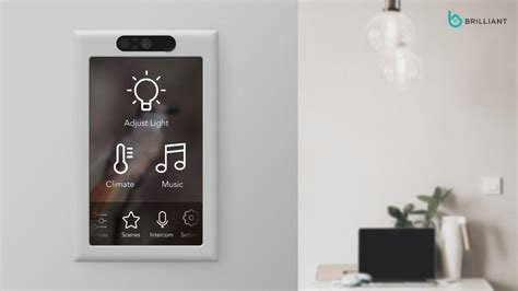brilliant is a touch screen light switch for smart