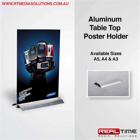 table top poster aluminum table top poster holder rt media solutions