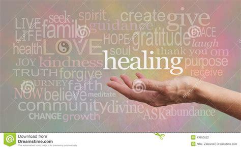 high resonance healing words  pastel background stock