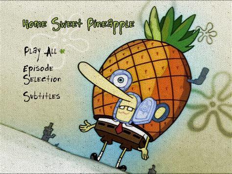 dvd menu spongebob home sweet pineapple alex
