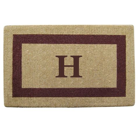 Personalized Coir Door Mats by Nedia Home Single Picture Frame Brown 22 In X 36 In