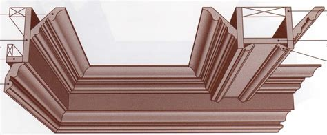Cross Ceiling - coffered ceiling cross section wainscoting crown