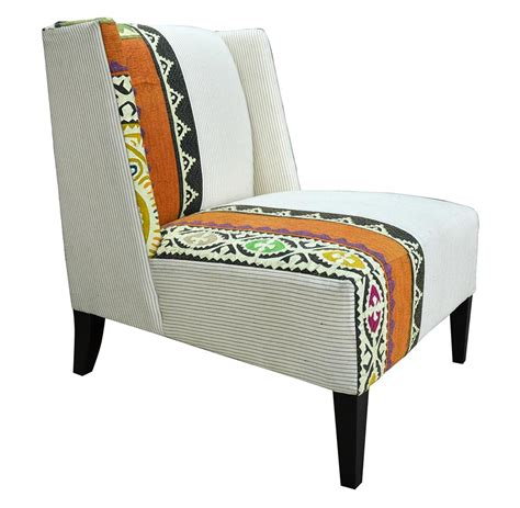 Patterned Accent Chair Orange Patterned Accent Chair Myideasbedroom