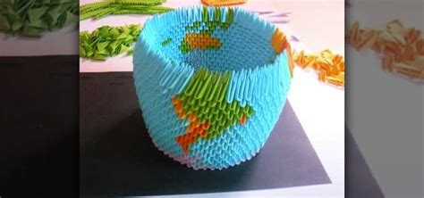 how to origami a 3d earth globe 171 origami wonderhowto
