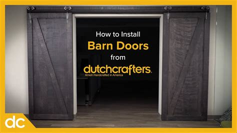 How To Install Interior Sliding Barn Doors Youtube How To Install Barn Doors Inside