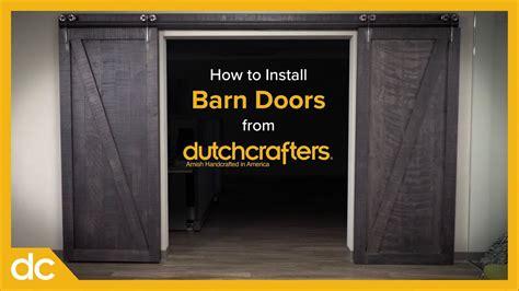 how to install interior sliding barn doors