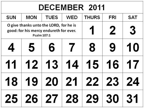 December 2011 Calendar Detlaphiltdic Free Christian Calendars 2011 Printable