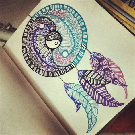 yin yang dreamcatcher tattoo this dreamcatcher drawing is amazing i don t usually like