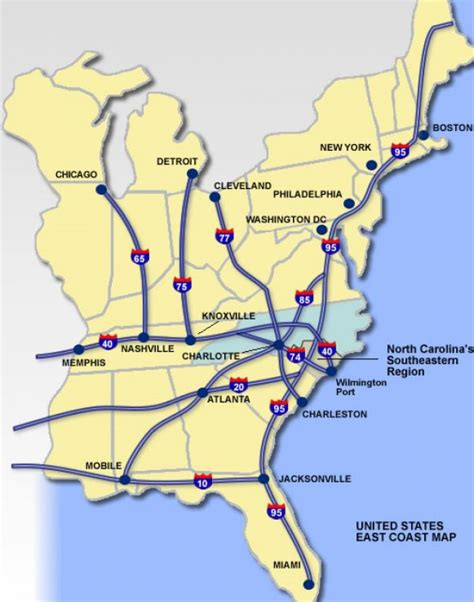 road map us east coast pin map usa east coast 1 on