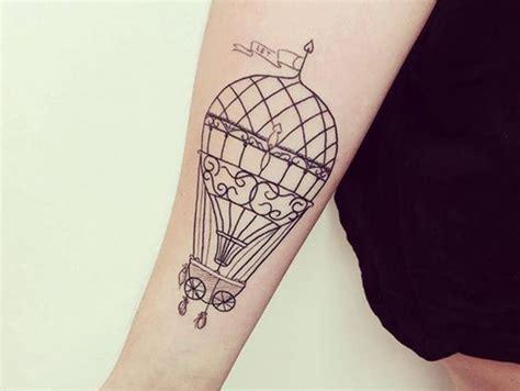 small hot air balloon tattoo 45 air balloon designs