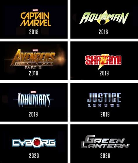 film marvel jusqu en 2020 marvel dc movies 2015 2020 comics amino