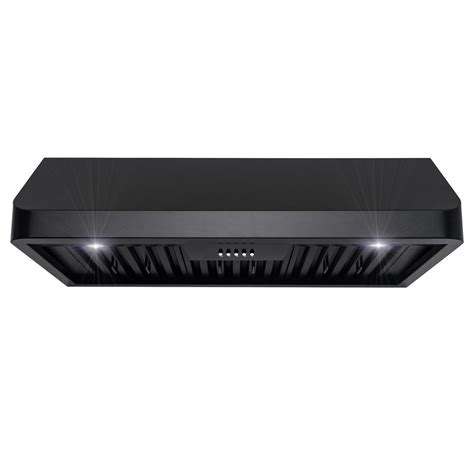 black stainless under cabinet range hood 36 under cabinet range hood black imanisr com