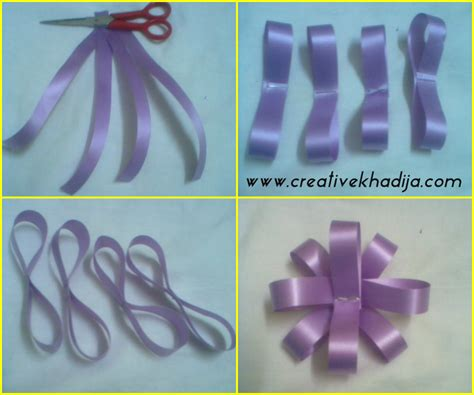 Paper Ribbon Flower - paper ribbon flower tutorial gift packing idea