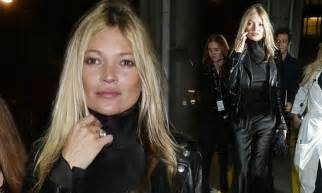 Kate Moss Arrives Home To Continue 34 Hour Marathon Birthday by Kate Moss Supports Pal Galliano At Catwalk