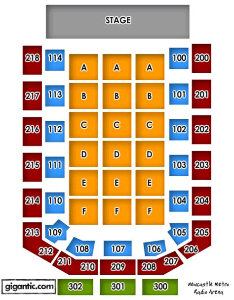 metro radio arena floor plan bryan adams tickets tour dates concerts gigantic tickets
