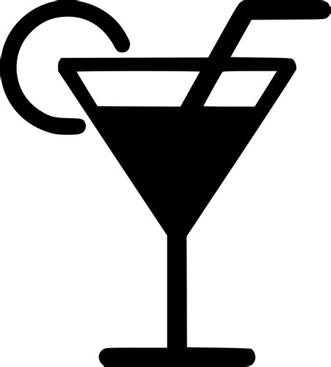 martini svg martini glass drink cocktail straw svg png icon free