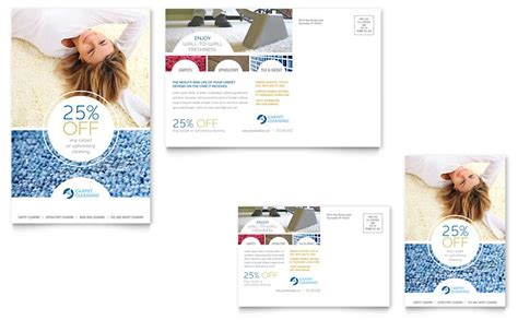 Carpet Cleaning Postcard Template Word Publisher Carpet Cleaning Postcards Templates
