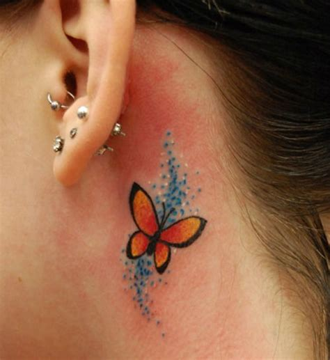 cool tattoos behind your ear 41 cool behind the ear tattoo designs sortra