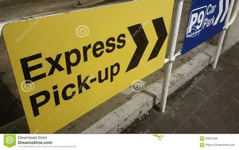 express international express up sign sydney airport stock photo image