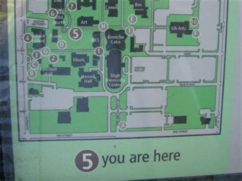 uco parking map you are here at uco s centennial garden edmond ok