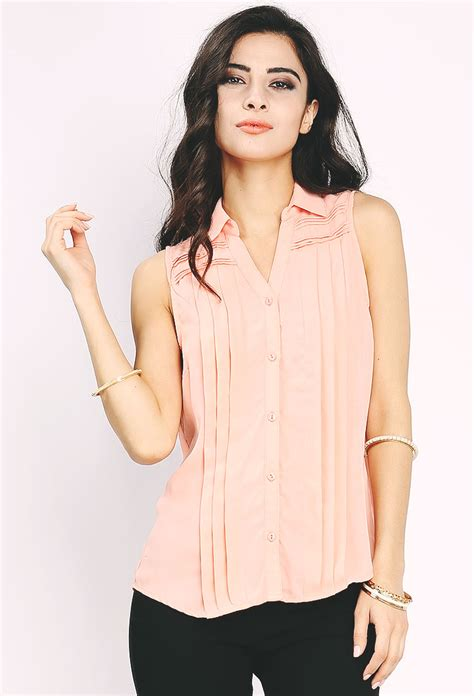 Top Atasan Blouse Wanita 1 pleated crochet detail blouse shop best sellers at papaya clothing