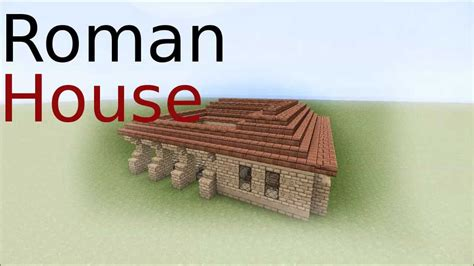 roman house minecraft roman house tutorial youtube