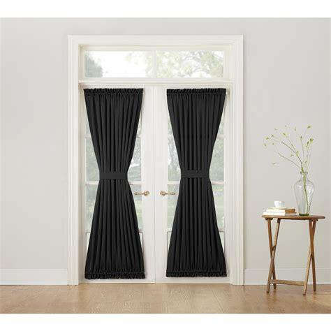 black room darkening curtains sun zero gregory black room darkening door panel curtain