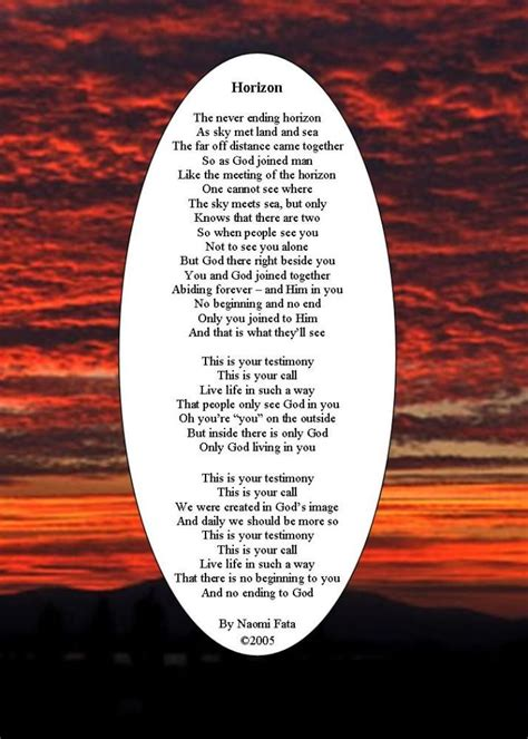 horizon inspirational poem inspirational poems christian poems poems
