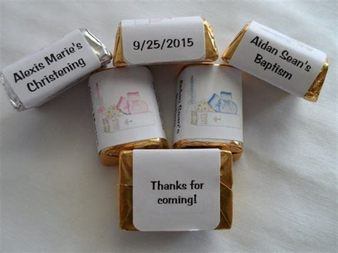 personalized chocolate wedding favors uk 30 personalized christening or baptism favor nugget