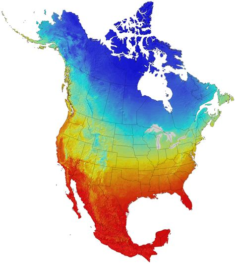 america map temperature climate map america