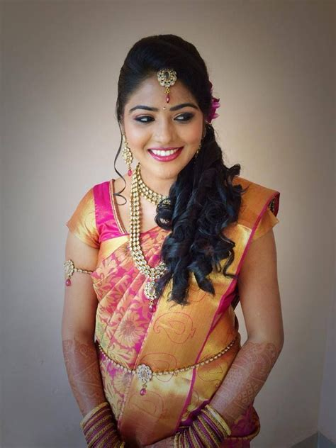 indian hairstyles for sarees square face simple trending south indian bride hairstyle to try on
