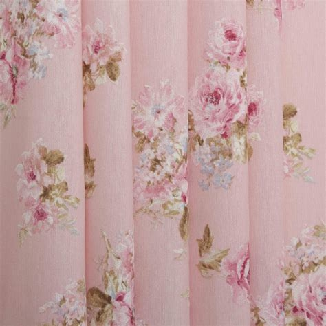 vintage flower curtains vintage chintz shabby roses print retro 100 cotton