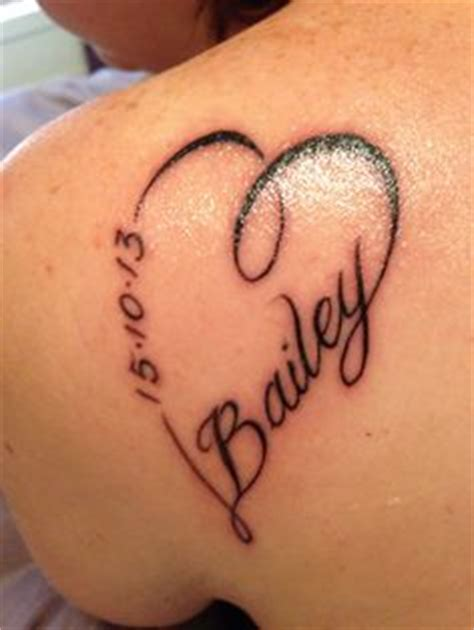 Tattooed Heart Zing | tattoos piercings on pinterest name tattoos baby name