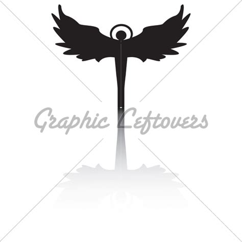 designing silhouettes of angels demo angel silhouette with shadow 183 gl stock images
