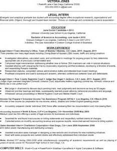 Exle Of Resume For Internship by Marketing Internship Resume Skills
