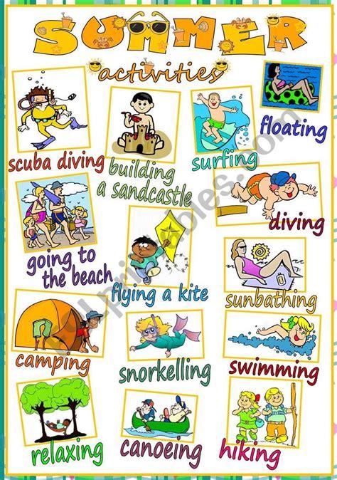 Esl Summer Vocabulary Gambarsurat