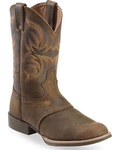 toe cowboy boots for justin s stede cattleman cowboy boot toe
