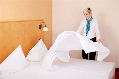 bed making by the staff picture of hotel goldi sands travel smart hotel green practices spark job security