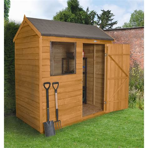 patio shed forest garden 6 x 4 overlap dip treated apex shed