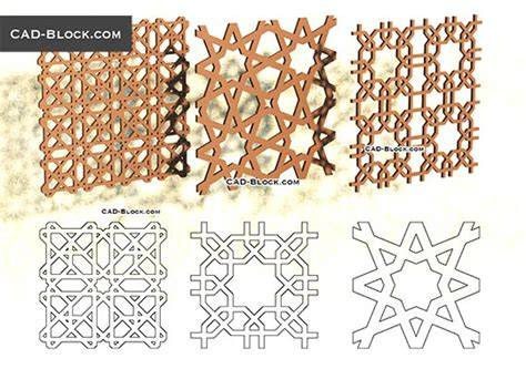 pattern islamic autocad cad blocks free download