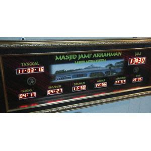 cara membuat jam digital masjid galeri portofolio jam digital masjid jadwal sholat