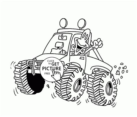 funny monster truck videos funny little monster truck coloring page for kids