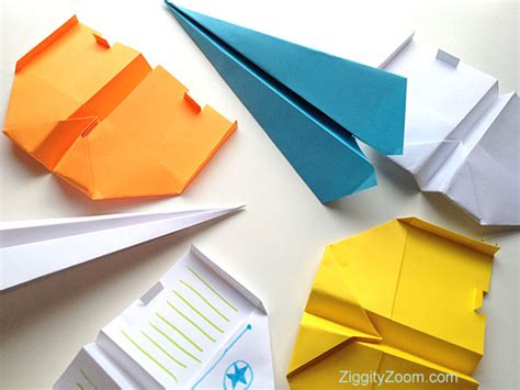 How To Make A Paper Airplane Turn Right - paper airplanes ziggity zoom family