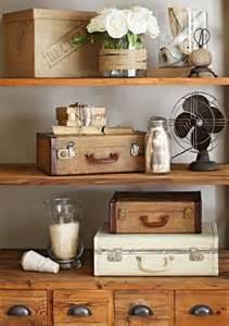 antique shelving ideas decorating ideas for vintage finds suitcases shelving