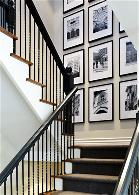 Staircase Wall Ideas Cozy Eclectic How To Decorate A Staircase Wall