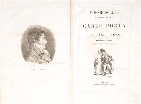 poesie carlo porta poesie scelte in dialetto milanese di carlo porta e