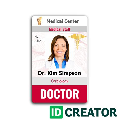 free printable id card maker doctor id call 1 855 make ids with questions