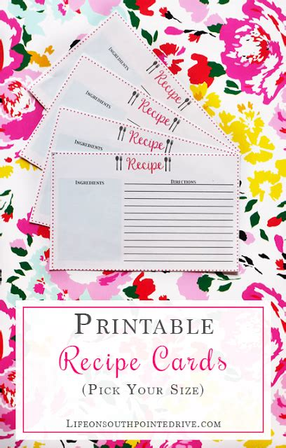 hp printable recipe cards the pin junkie